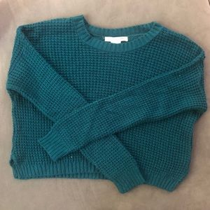 Teal Cropped Sweater